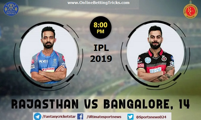 Rajasthan vs Bangalore