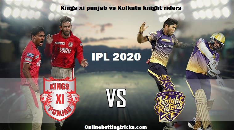 KXIP VS KKR IPL 2020