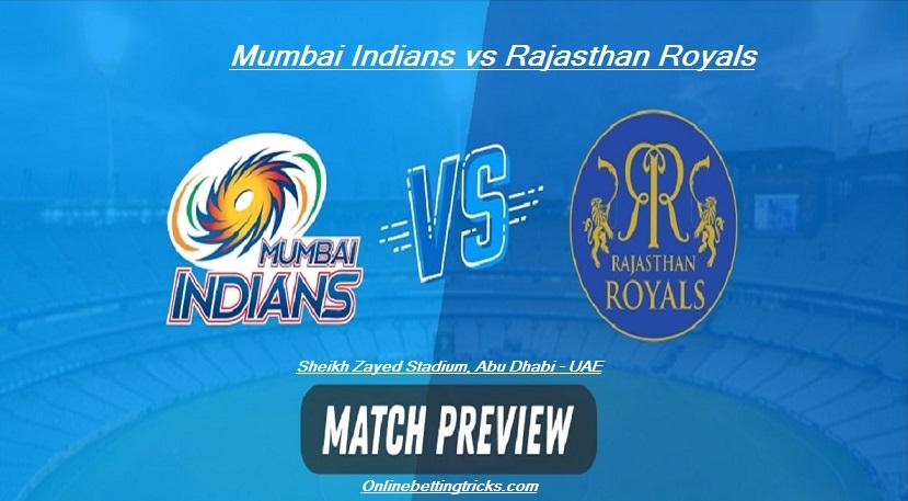 MI VS RR IPL 2020