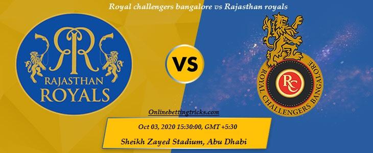 RCB VS RR IPL 2020