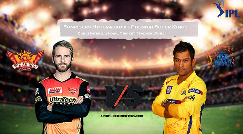SRH VS CSK IPL 2020